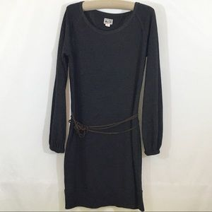 Converse Sweatshirt Dress w/ belt tie, Grey, Large